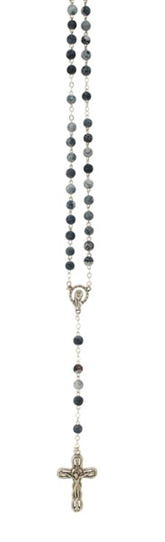 PATERNOSTER - grijs/blauw - marmermotief - steen - 44,5 cm
