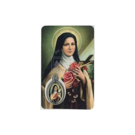 MEDAILLEKAART - H. THERESIA + gebed