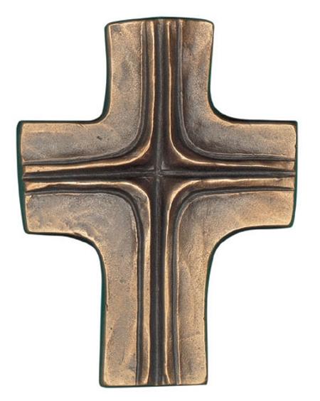 KRUIS - brons - 11x8,5 cm - om te hangen