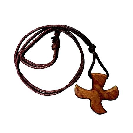 KRUISJE - TAIZE - met koordje - 2,8x2,6 cm