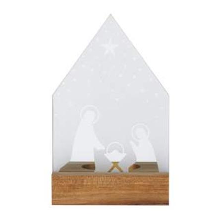 WIND LICHT - kerststal - voor t-lichtje