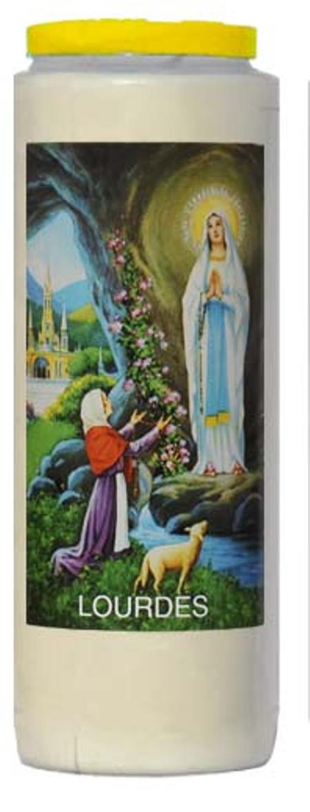 NOVEENKAARS - OLV van Lourdes - wit (9 dagen)
