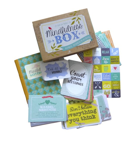 MINDFULNESS BOX - 24 kaarten met quotes - 12 krachtkaarten ...