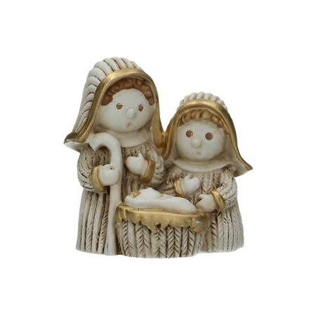 H. FAMILIE - kerstfiguren - klein - 6 cm - alabaster