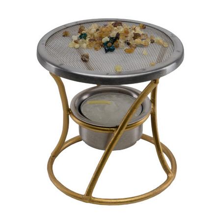 WIEROOKBRANDER - metaal - goudkleurig - 8,5 cm H