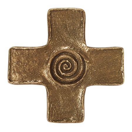 KRUIS - brons - spiraal - 13x13 cm