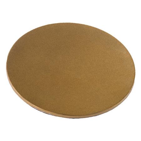 ONDERZETTER KAARS - goud - mat - doorsnede 10 cm