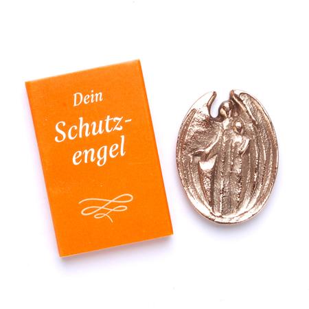 BESCHERMENGEL - brons - in doosje - 4,7x2,7 cm
