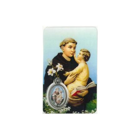 MEDAILLEKAART H. ANTONIUS + gebed