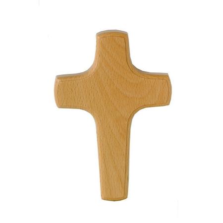 KRUIS - hout - blank - 20x13,5 cm - om te hangen