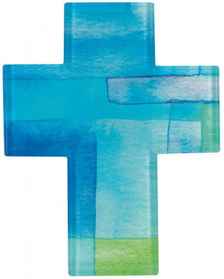 KRUIS - glas - 11,5x14,5 cm