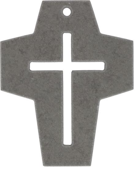 KRUIS - 8x10 cm - steen - grijs