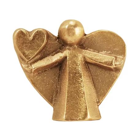 ENGEL MET HARTJE - brons - 3,5 cm hoog - in een doosje