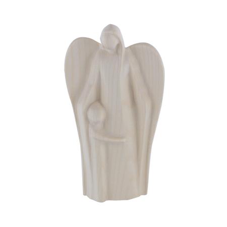 ENGEL MET KIND - hout natuur - 11 cm