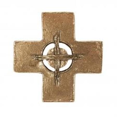 KRUIS - zon - brons - 11,2x11,2 cm