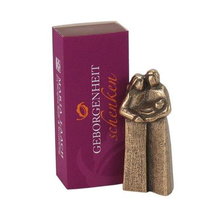 GEBORGENHEID - brons beeldje - 7 cm H - in doosje