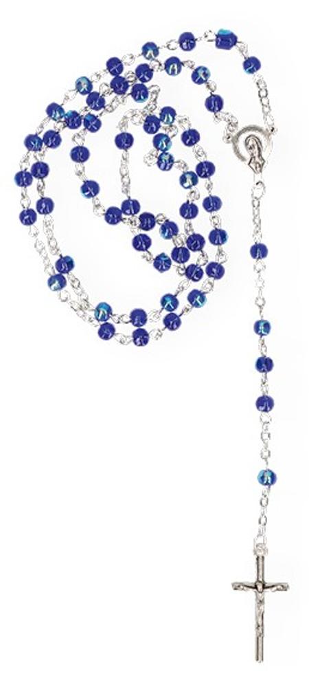 PATERNOSTER - glasparel - blauw - met kruisje