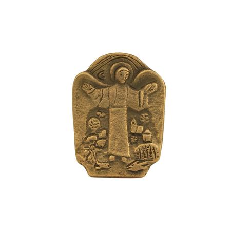 GEBORGENHEID - onder uw vleugels - brons - 4,3x3,3 cm - in een doosje