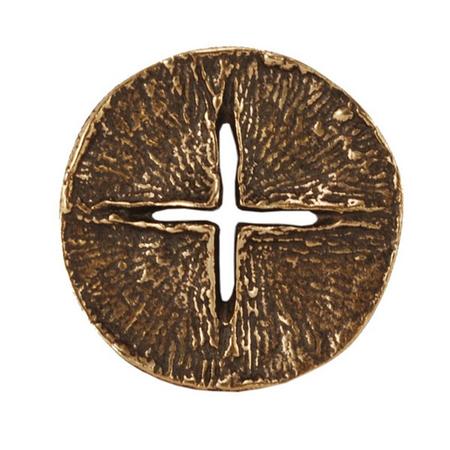 KRUIS - licht in het donker - brons - doorsnede 4 cm - in een doosje