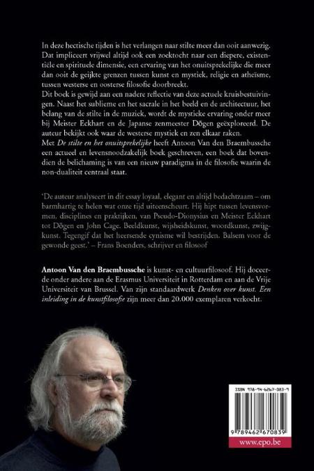 DE STILTE EN HET ONUITSPREKELIJKE - A. VAN DEN BRAEMBUSSCHE