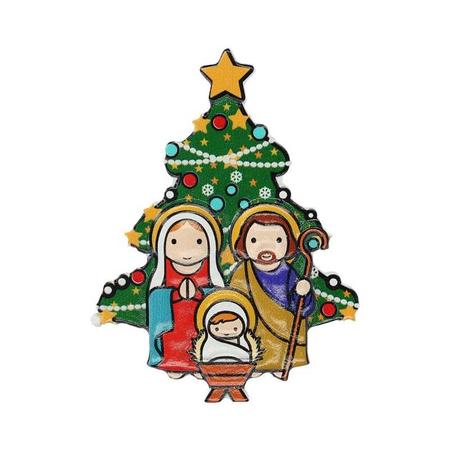 MAGNEET - KERST - met kerstboom - 5x7 cm