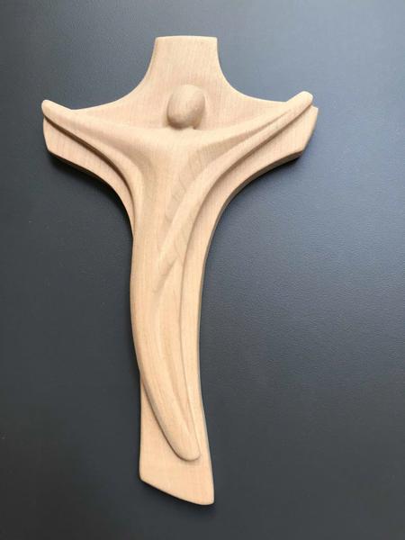 KRUIS HOUT - Christusfiguur - 18 CM