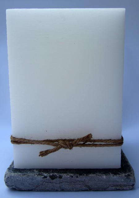 HUWELIJKSKAARS - LAGE BLOK - 125/125/180 - met touw