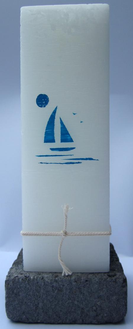 DOOPKAARS - 70/70/220 - blauw bootje