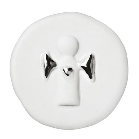 GUARDIAN ANGEL - wit porcelein/zilver - in zakje