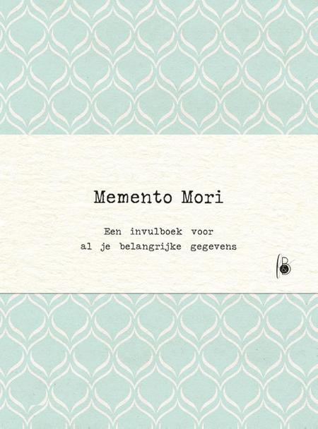 MEMENTO MORI - invulboek