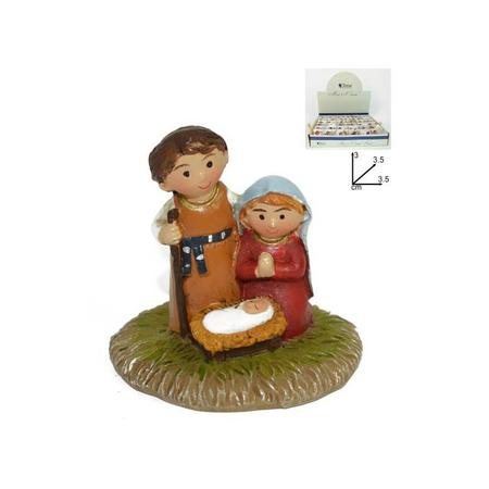 H.Familie - mini kerstfiguren  - 3,5X3,5X3 CM