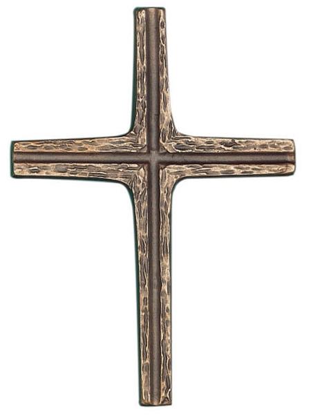 KRUIS - 19x14 cm - om te hangen - brons