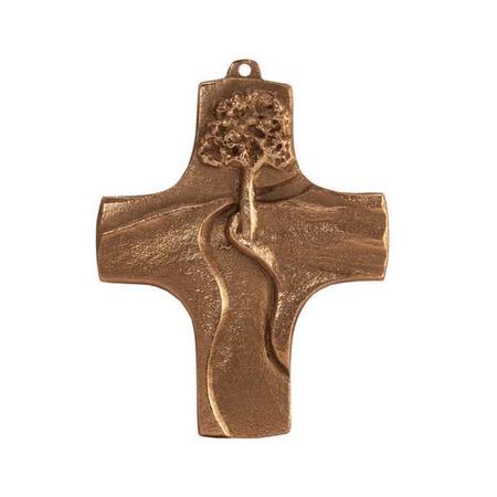 KRUIS - brons - weg - 9x7 cm