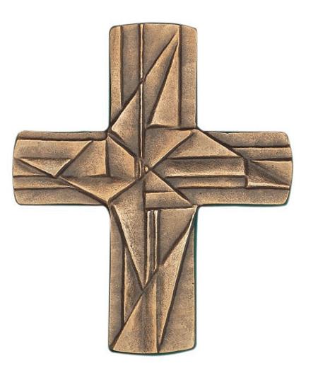 KRUIS - met ornamenten - brons - 9,5x8 cm
