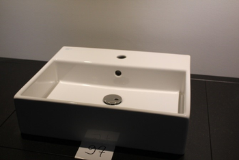 STRADA lavabo 50x42cm met 1 kraangat-wit