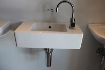 DURASTYLE handwasbakje 50x22 met kraangat l-wit