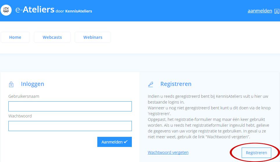 FAQ - Registreren