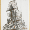 Wrapped monument to Vittorio Emanuel by  Christo