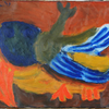 vliegende vogel by Karel Appel