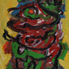 walking figure by Karel Appel