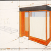 Orange store front by  Christo