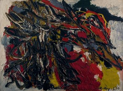 vol d'oiseau by Karel Appel