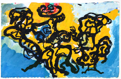 dissolved by the landscape by Karel Appel