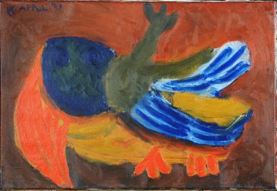 vliegende vogel by Karel Appel