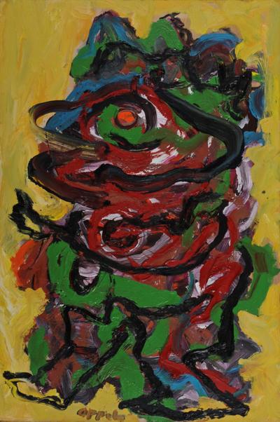 walking figure by Karel Appel