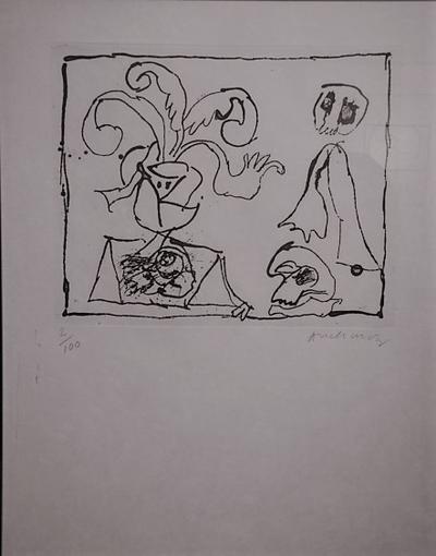 Untitled 4 by  Alechinsky