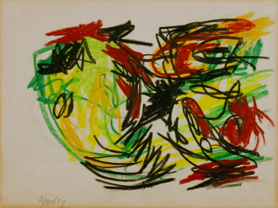 nu couche by Karel Appel