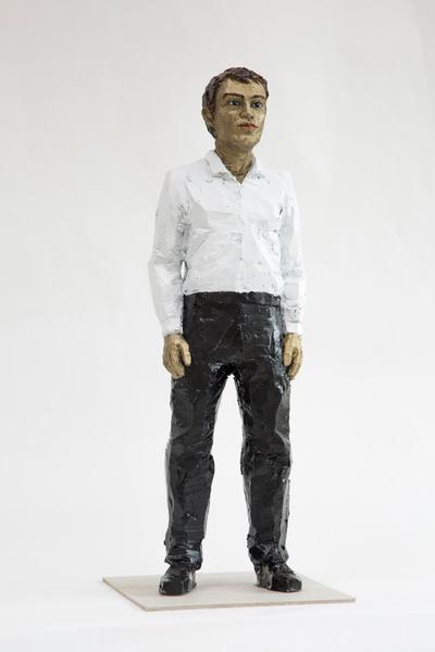 Mann schwarz-weiss by Stephan Balkenhol