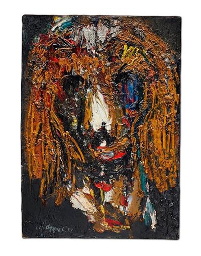 Tête d'animal (caniche) by Karel Appel