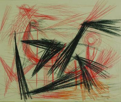 la danse des oiseaux by  Corneille